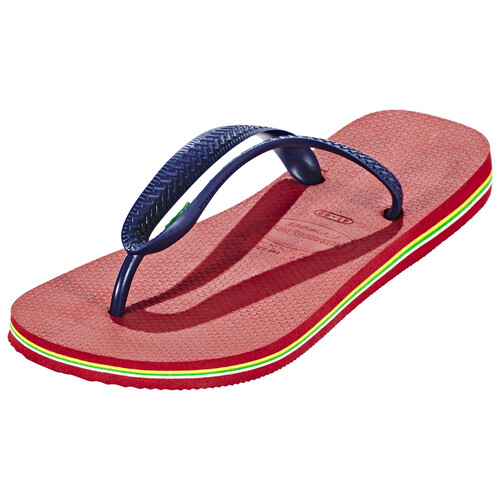 havaianas Brasil Logo - Sandales Homme - rouge sur campz.fr !